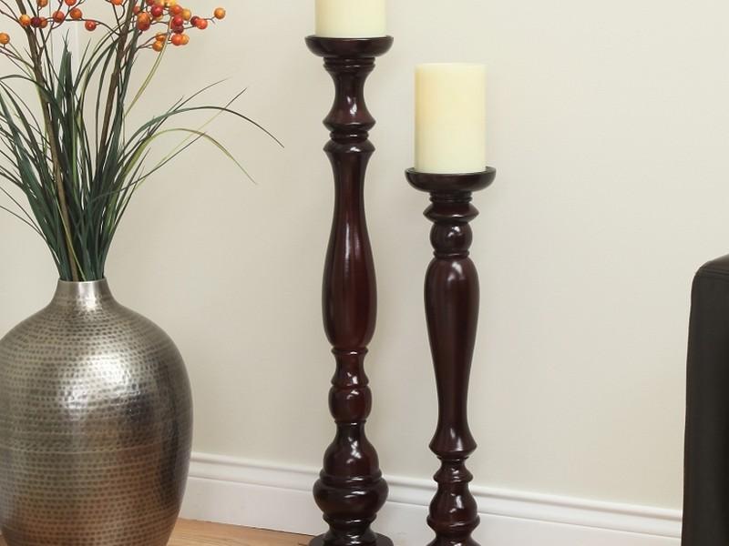 Wooden Floor Candle Stands