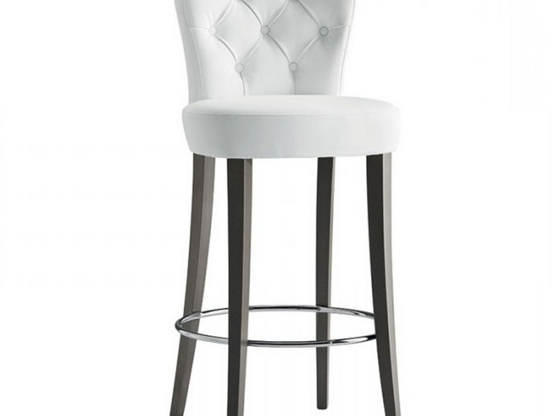 Wooden High Back Bar Stools