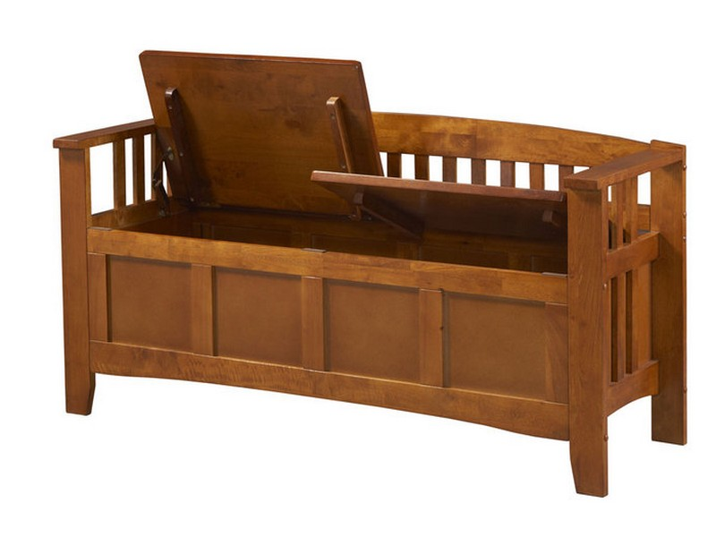 Wooden Storage Bench Seat