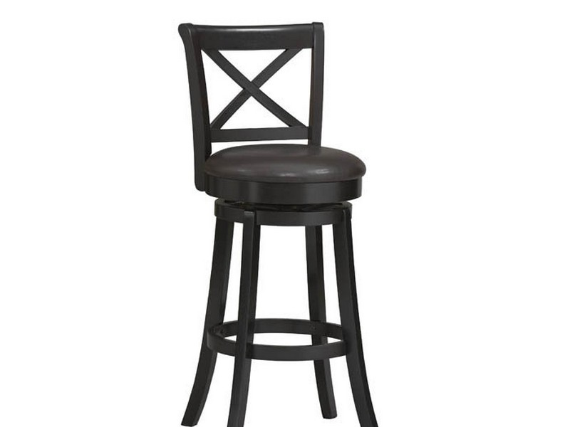 Wooden Swivel Bar Stools With Back And Arms