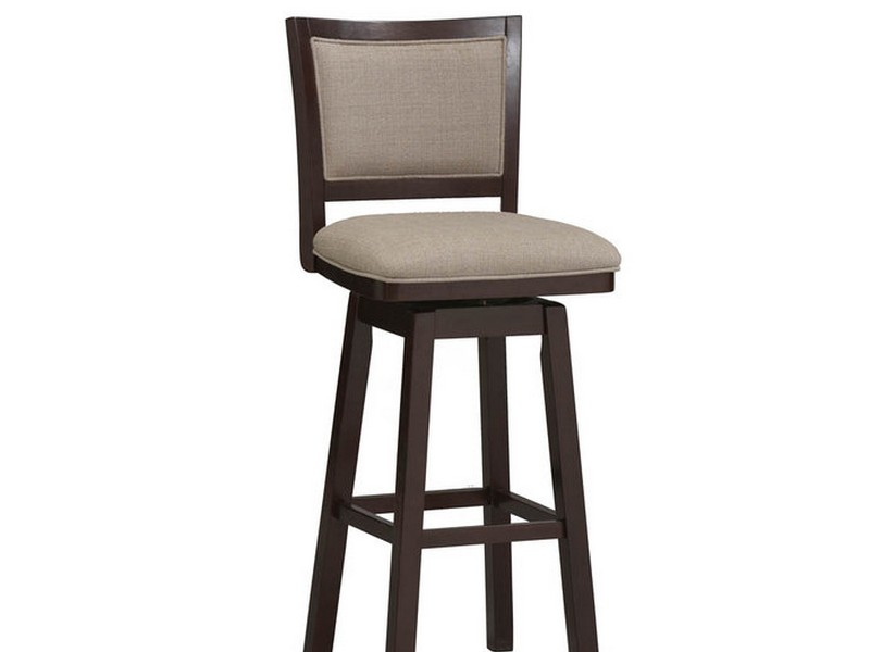 Wooden Swivel Bar Stools With Back