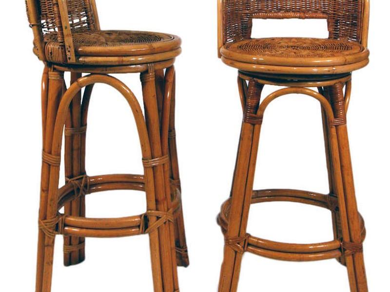 Woven Seat Bar Stools