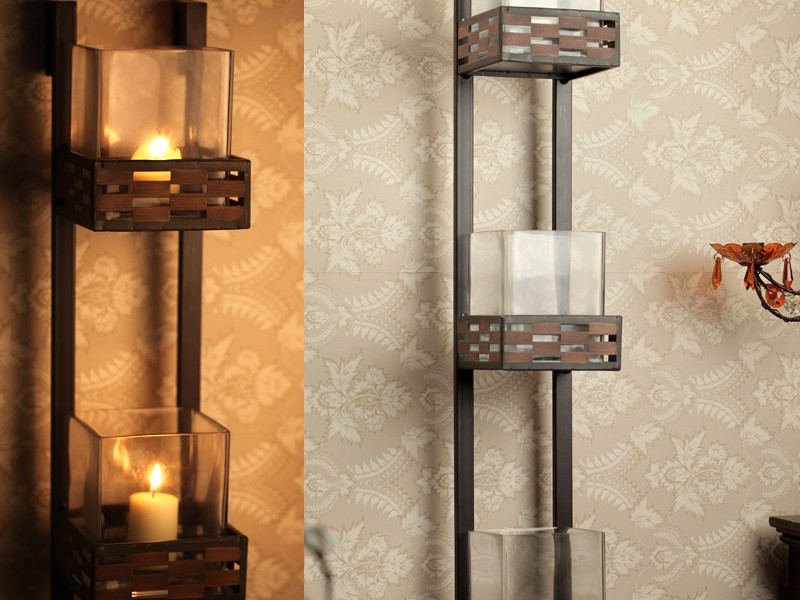 Wrought Iron Candle Sconces Wall