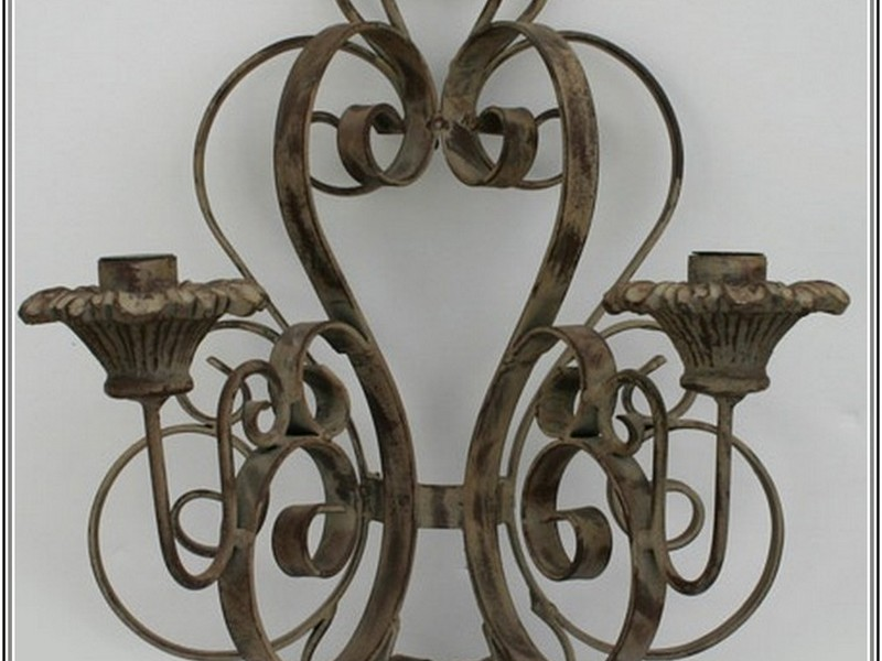 Wrought Iron Candle Wall Sconces Uk