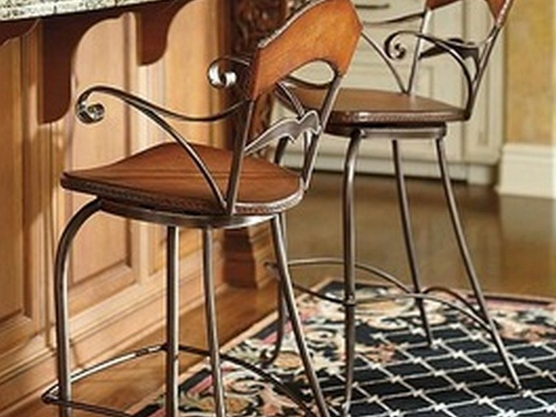 Wrought Iron Counter Stools