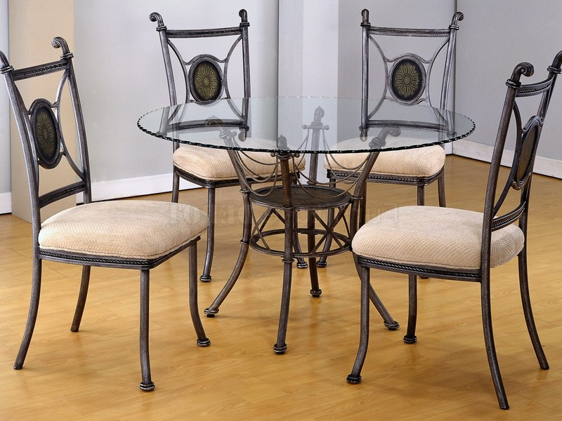 Wrought Iron Glass Top Kitchen Table