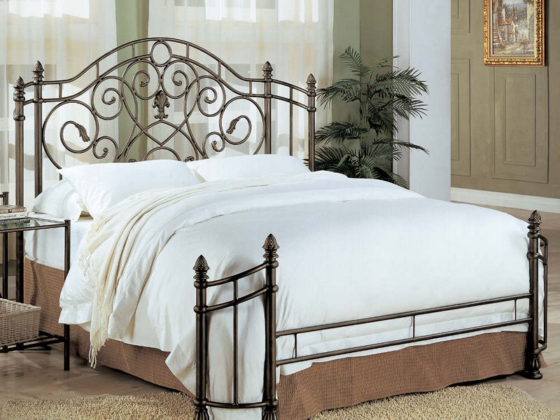 Wrought Iron Headboard King