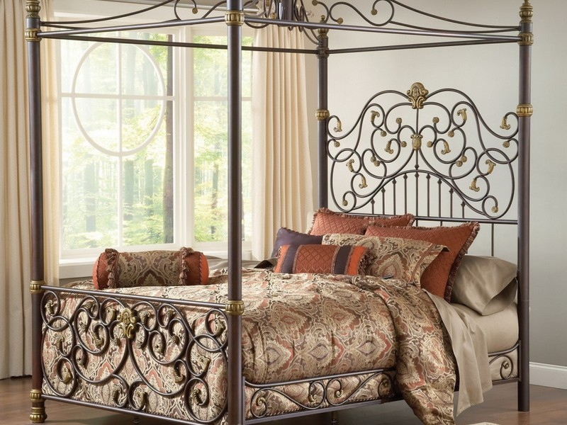 Wrought Iron Headboard Queen Bed