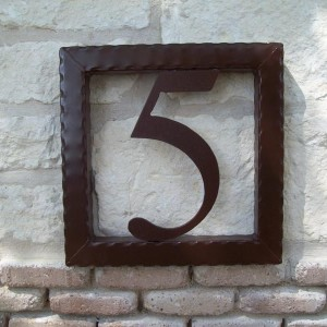 Wrought Iron House Numbers