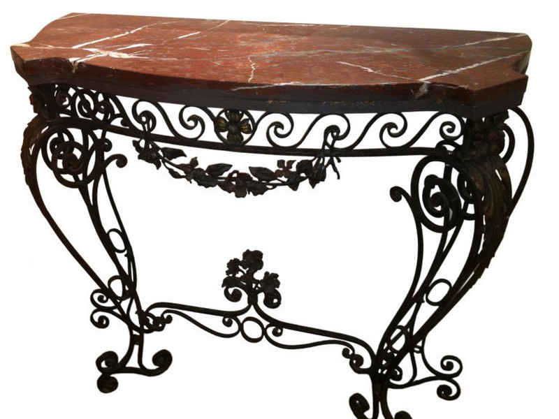 Wrought Iron Sofa Table
