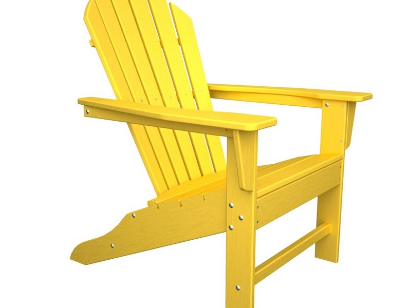 Yellow Adirondack Chair Resin