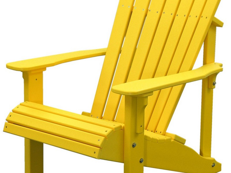 Yellow Adirondack Chair