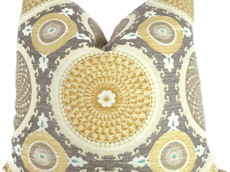 Yellow And Gray Accent Pillows