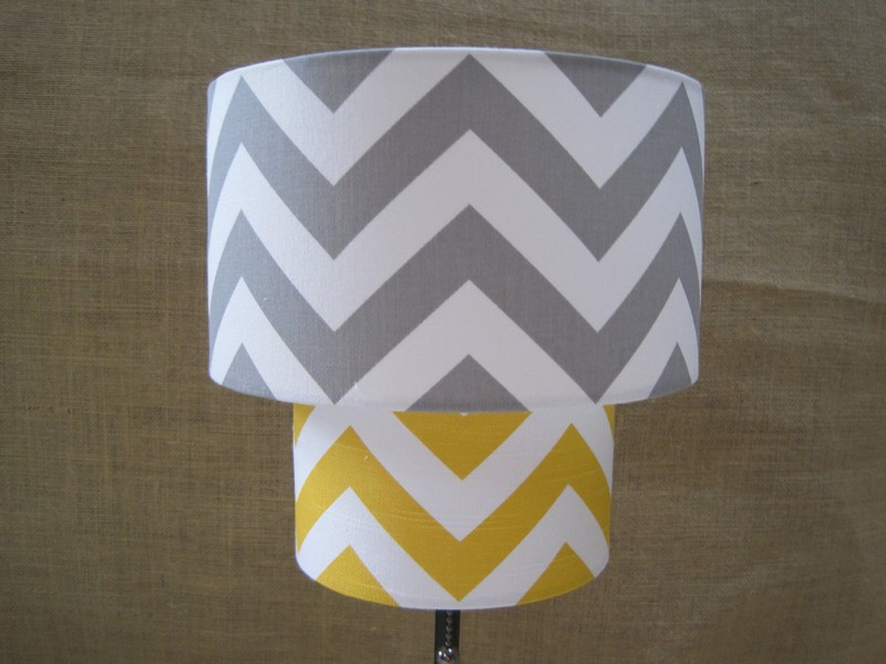 Yellow And Grey Lamp Shades