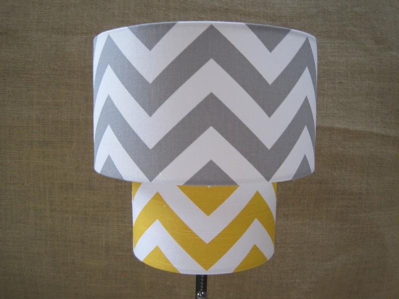 Yellow And Grey Lamp Shades