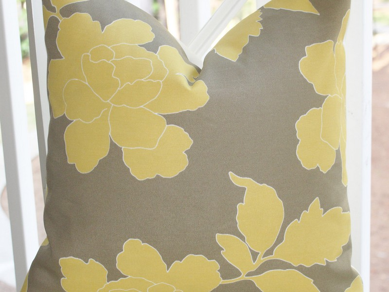 Yellow And Grey Pillows