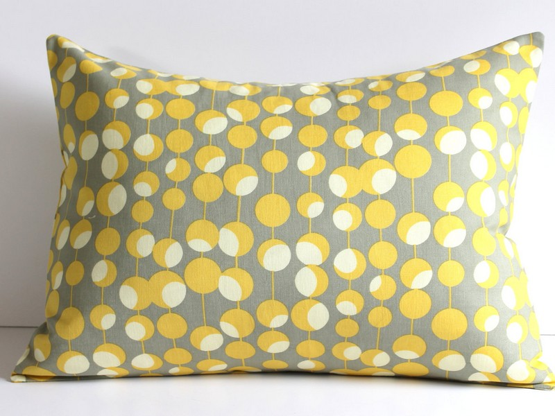 Yellow And Grey Throw Pillows