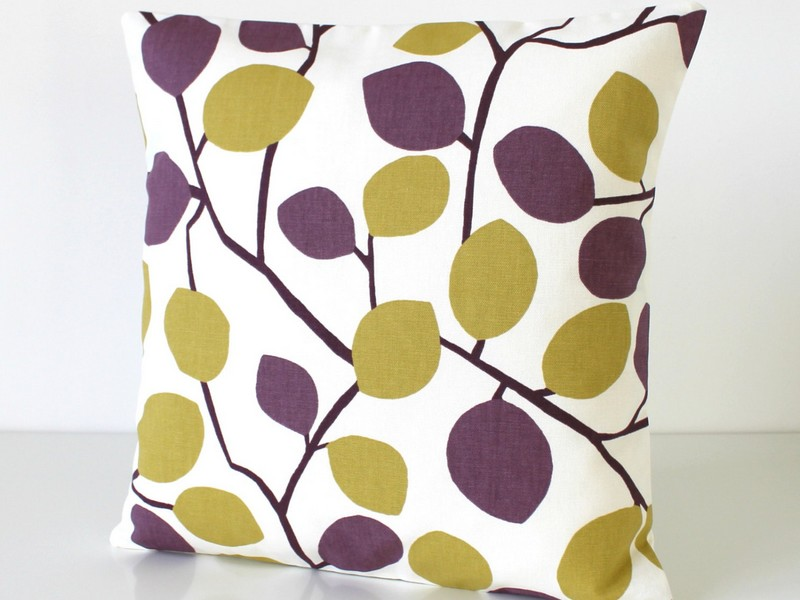 Yellow And Purple Accent Pillows