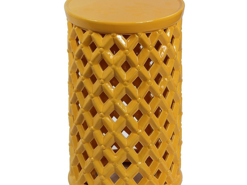 Yellow Garden Stool