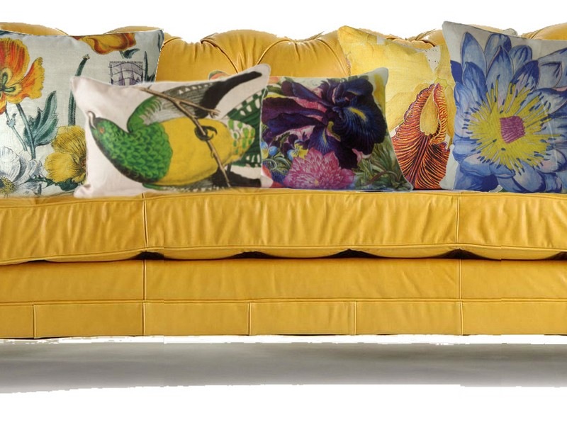 Yellow Leather Couch Anthropologie