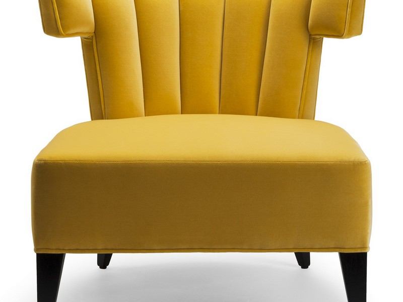 Yellow Slipper Chair