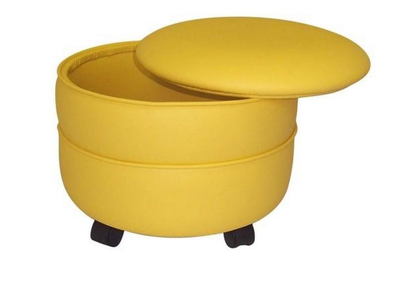 Yellow Storage Ottoman