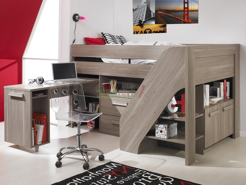 Youth Loft Bed With Stairs