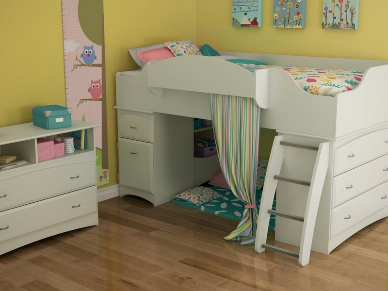 Youth Loft Bed With Storage