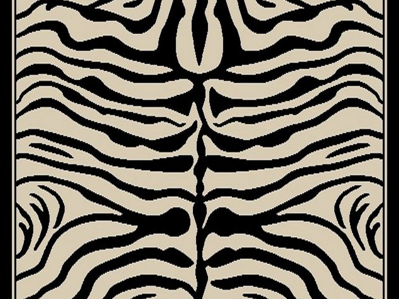 Zebra And Cheetah Print Rug
