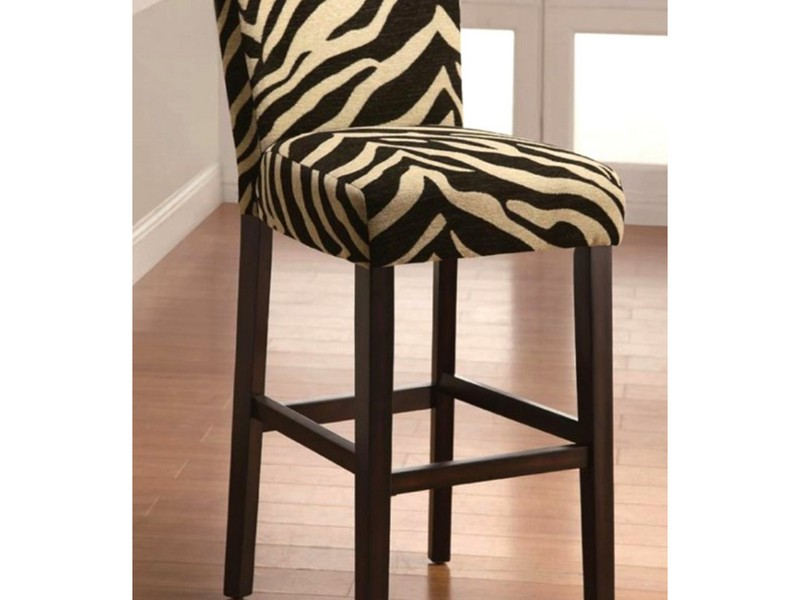 Zebra Print Bar Stools In Brown
