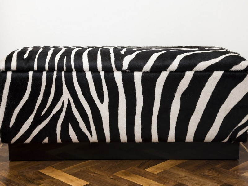 Zebra Print Bench