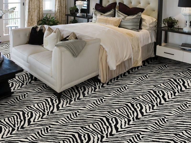 Zebra Print Carpet Tiles