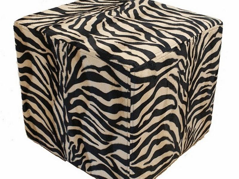 Zebra Print Ottomans Footstools Home Design Ideas