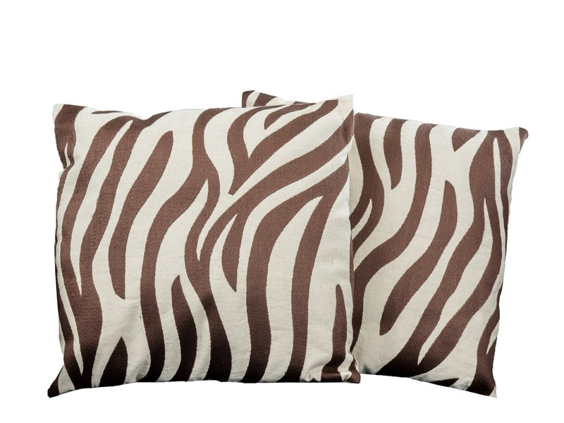 Zebra Print Throw Pillows Set Of 2