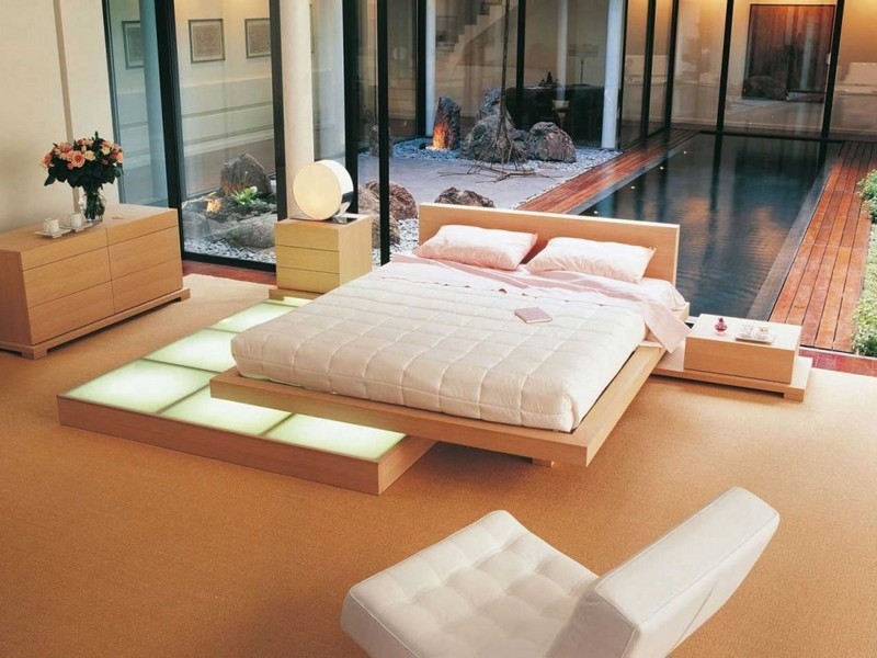 Zen Platform Bed Japanese Style