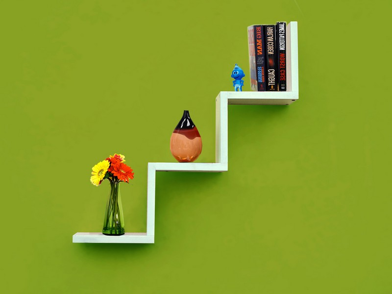 Zig Zag Wall Shelf